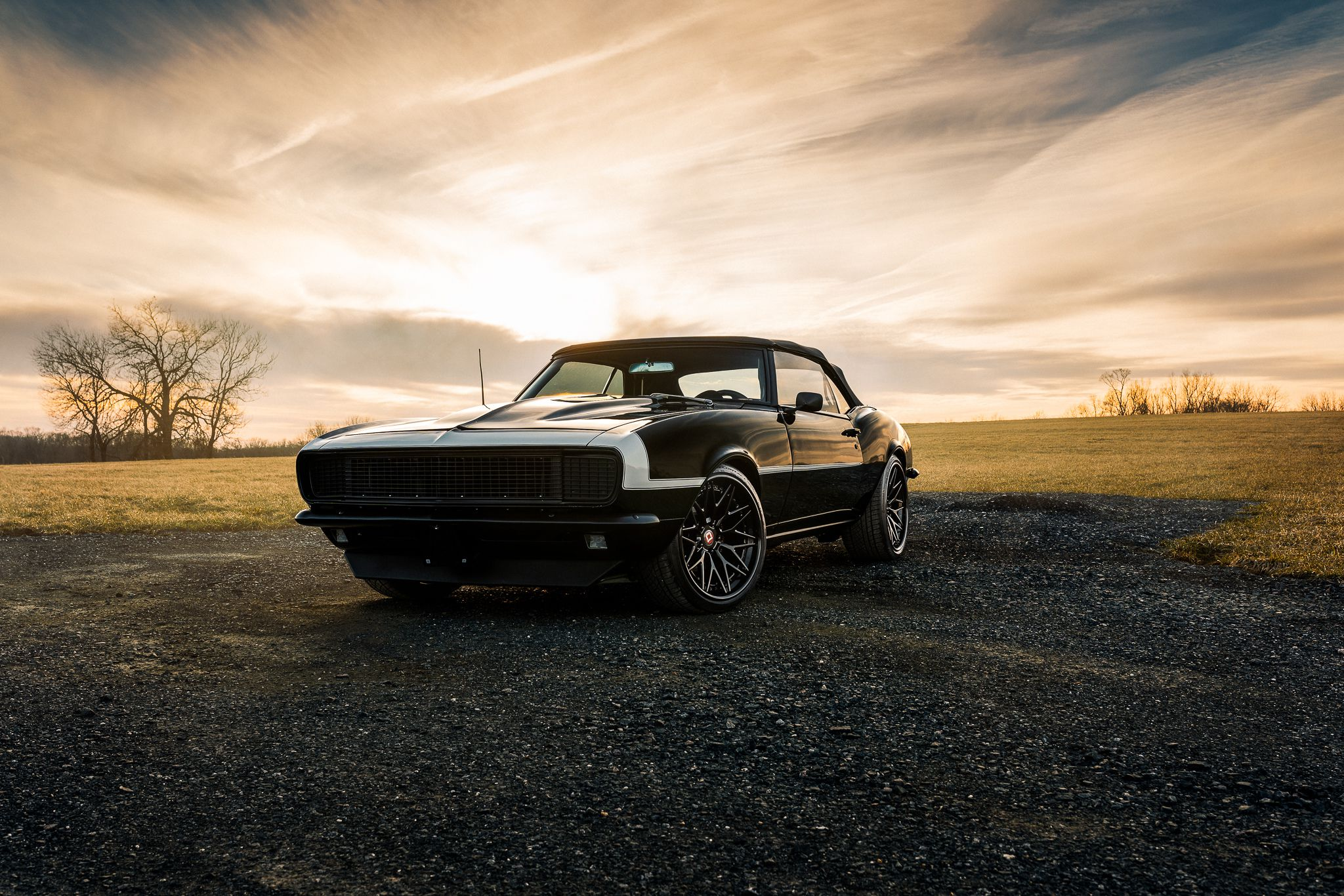 Camaro at sunset