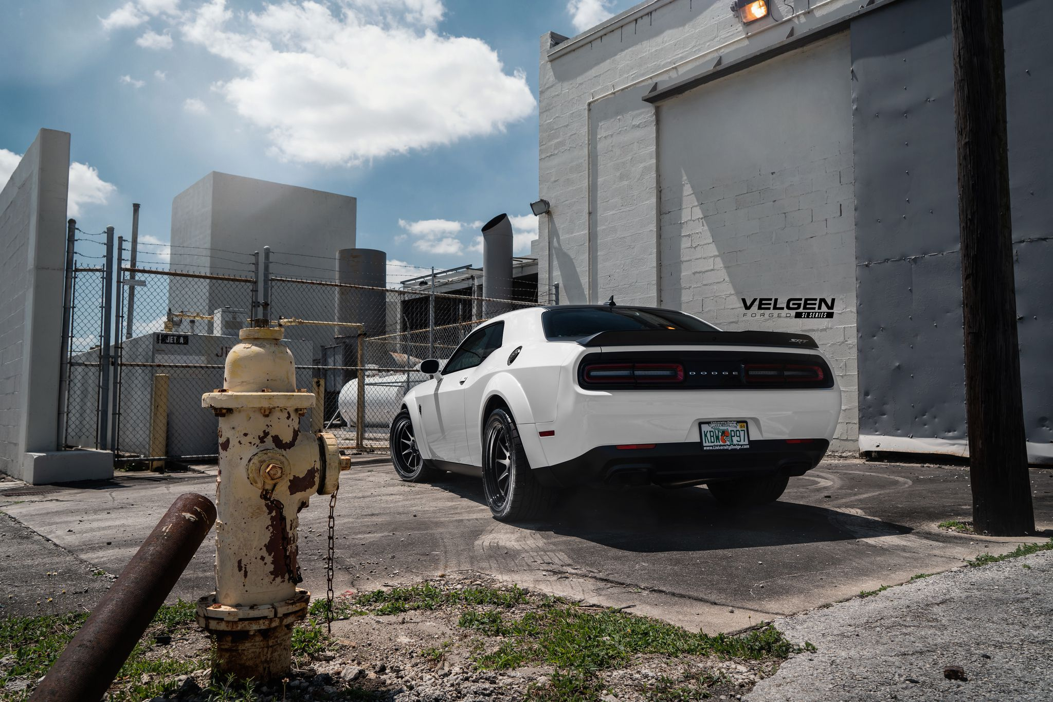 Dodge Demon in white colour
