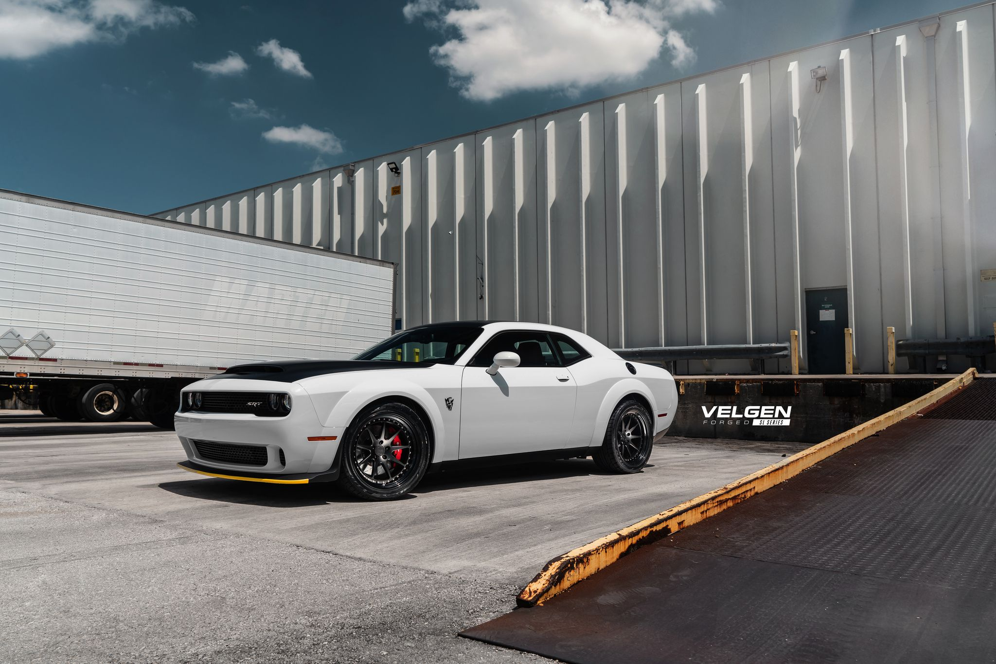 Dodge Demon on black custom wheels