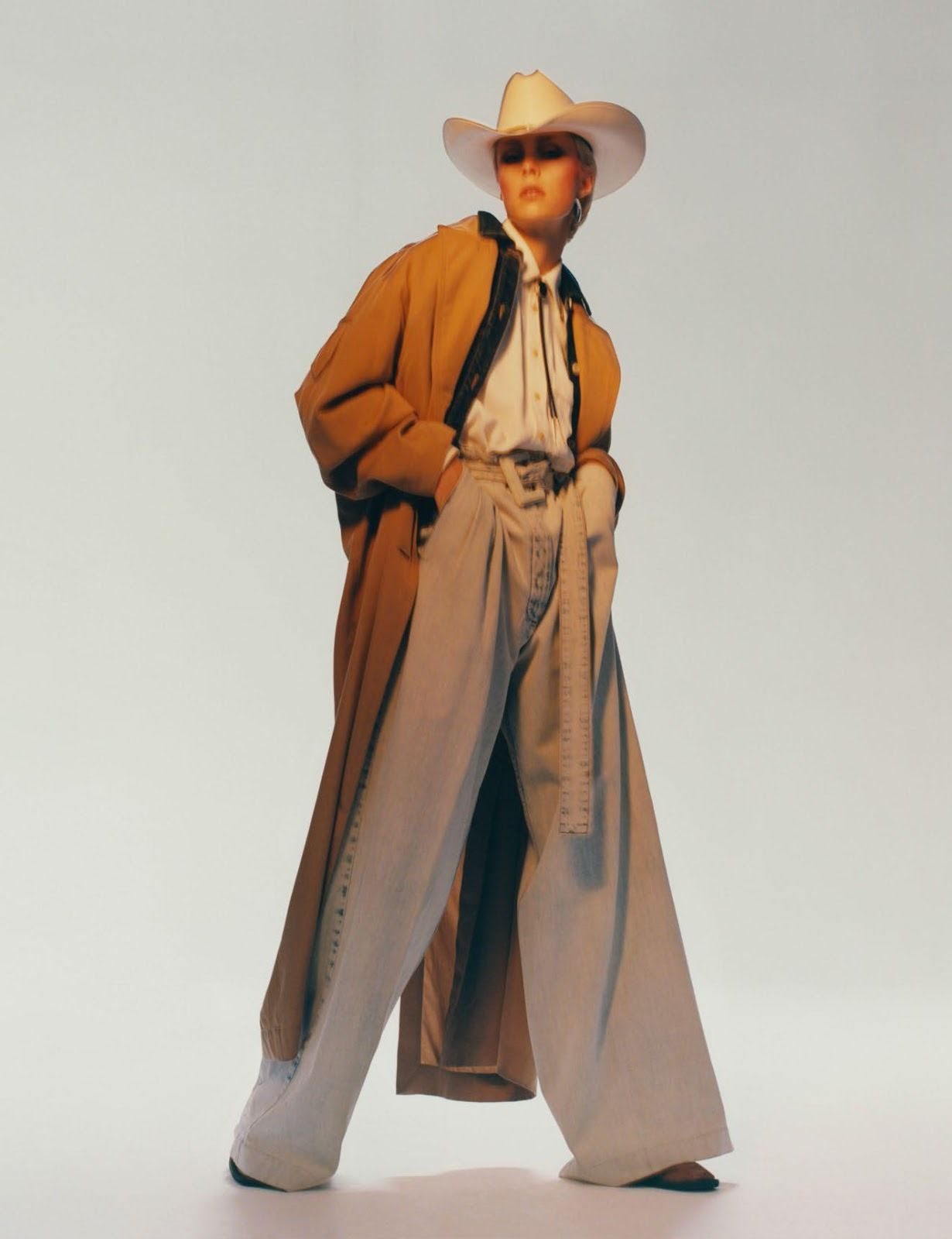 Edie Campbell, cowboy style