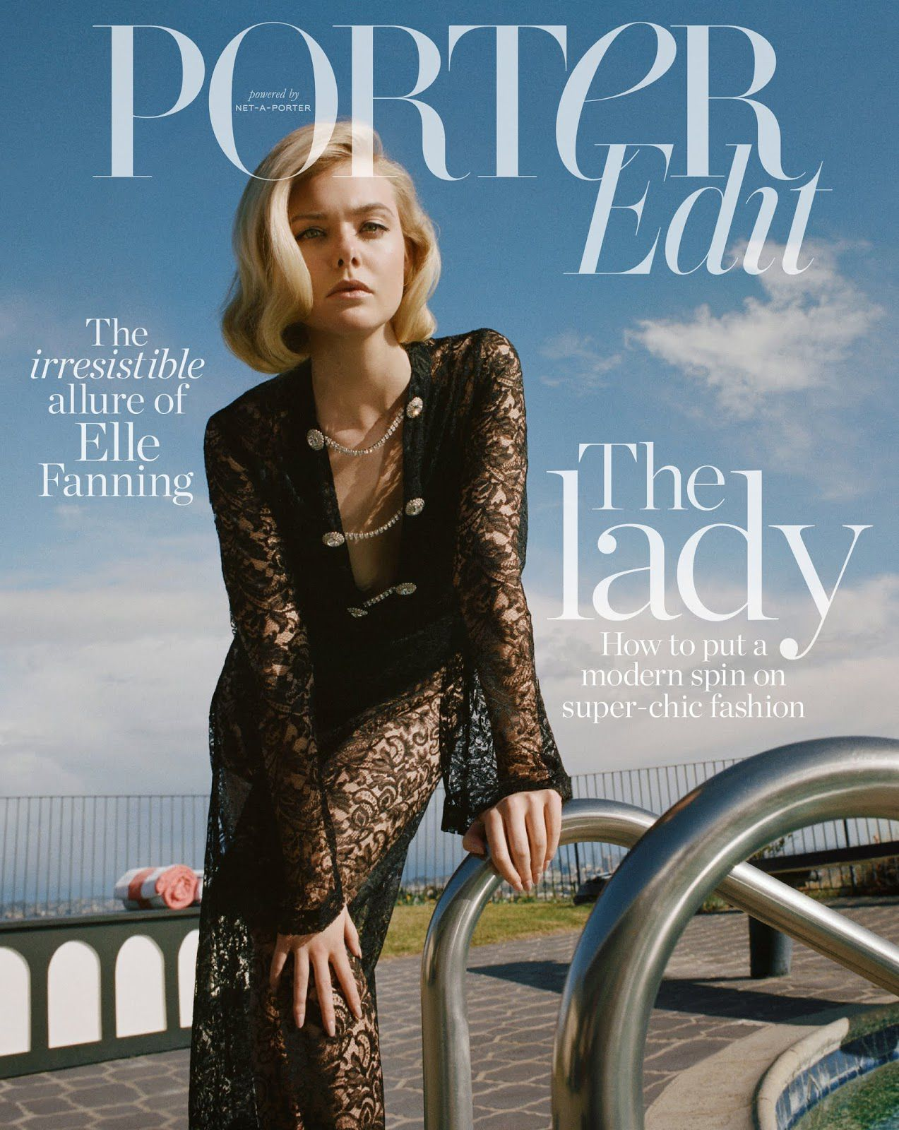 Elle Fanning, The Lady Cover story for Porter Edit