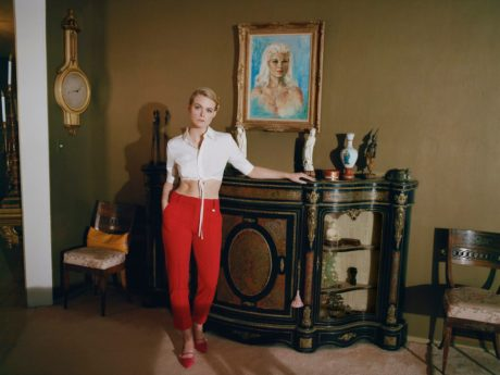 Elle Fanning inside retro room