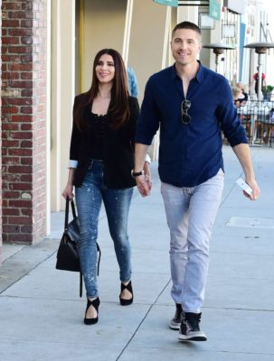 Eric Winter with Roselyn Sanchez are smiles