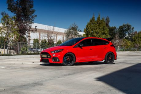 Ford Focus RS MK3 on black wheels by TSW