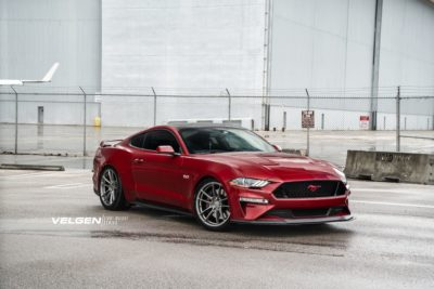 Ford Mustang GT on silver wheels