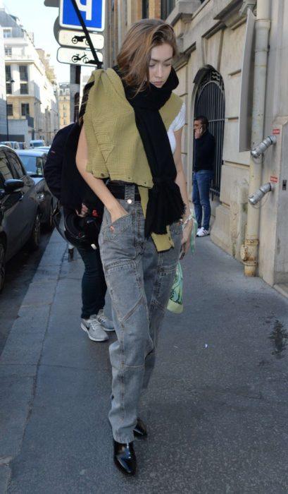 Gigi Hadid in Paris in new style