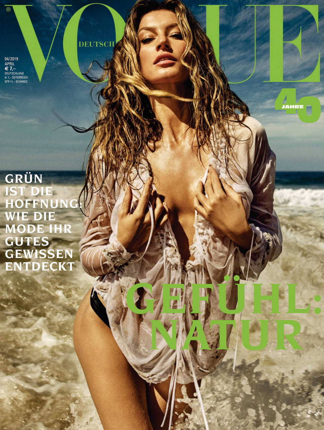 Gisele Bundchen, cover story Vogue Germany 2019