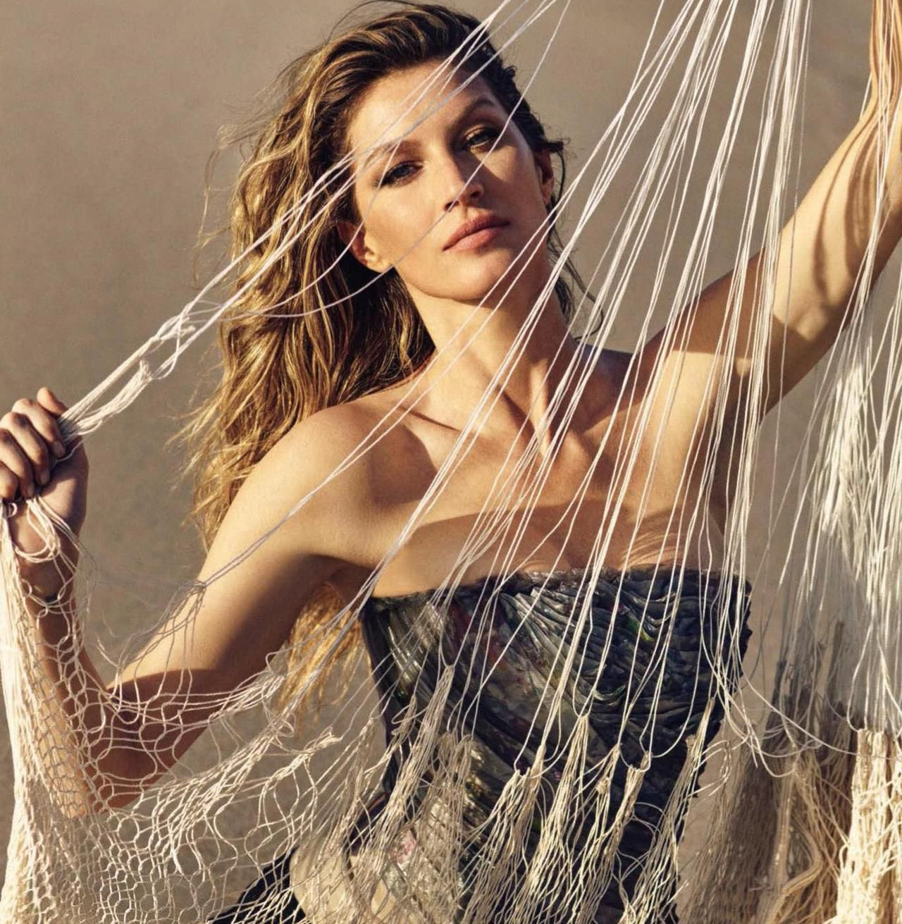 Gisele Bundchen, fishnet
