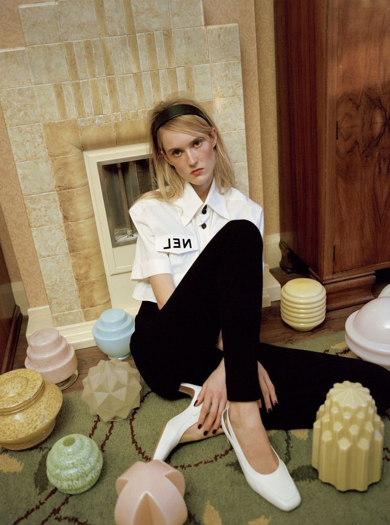 Harleth Kuusik in t shirt by Chanel