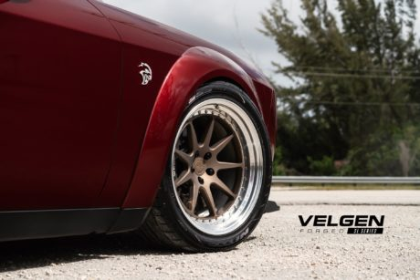 Hellcat Dodge Challenger, custom wheel by Velgen SL Series
