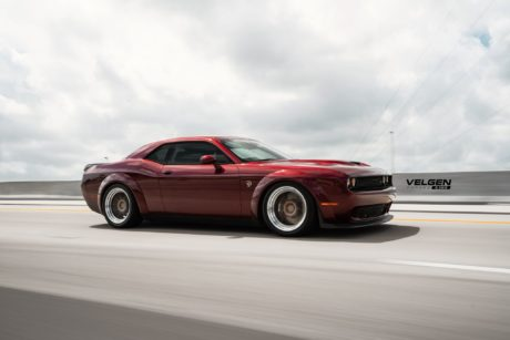 Hellcat Dodge Challenger in motion