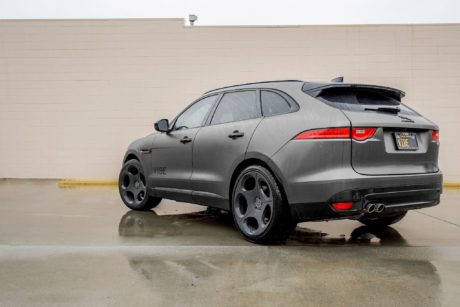 Jaguar F Pace in dark gray colour
