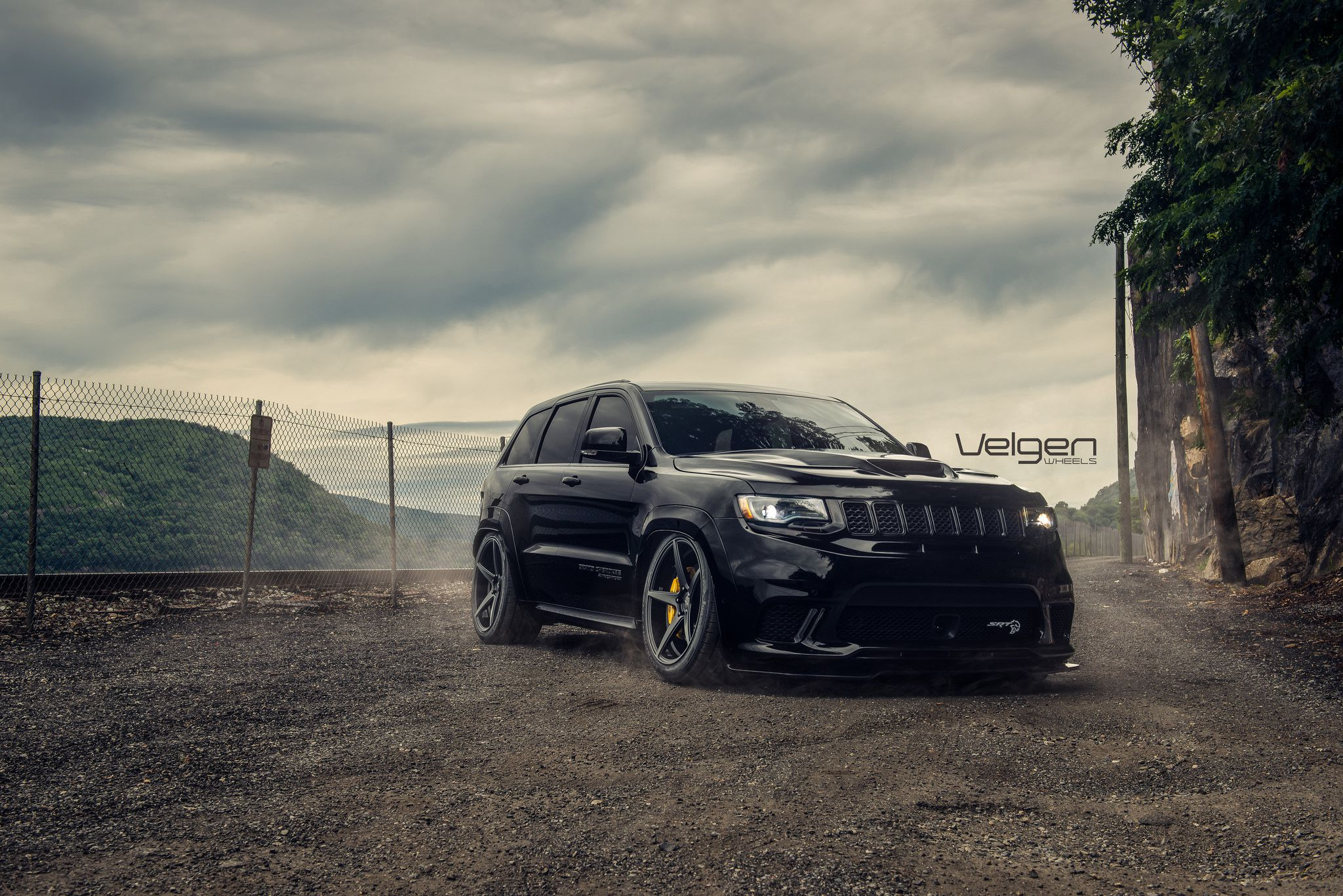Jeep SRT, black monster SUV
