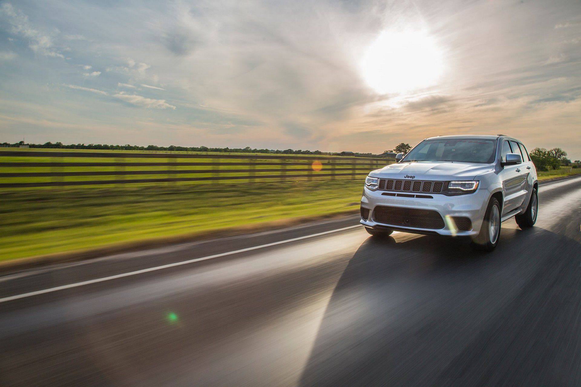 Jeep SRT in motion, by Hennessey
