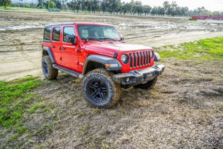 Jeep Wrangler JL on black VenomREX wheels