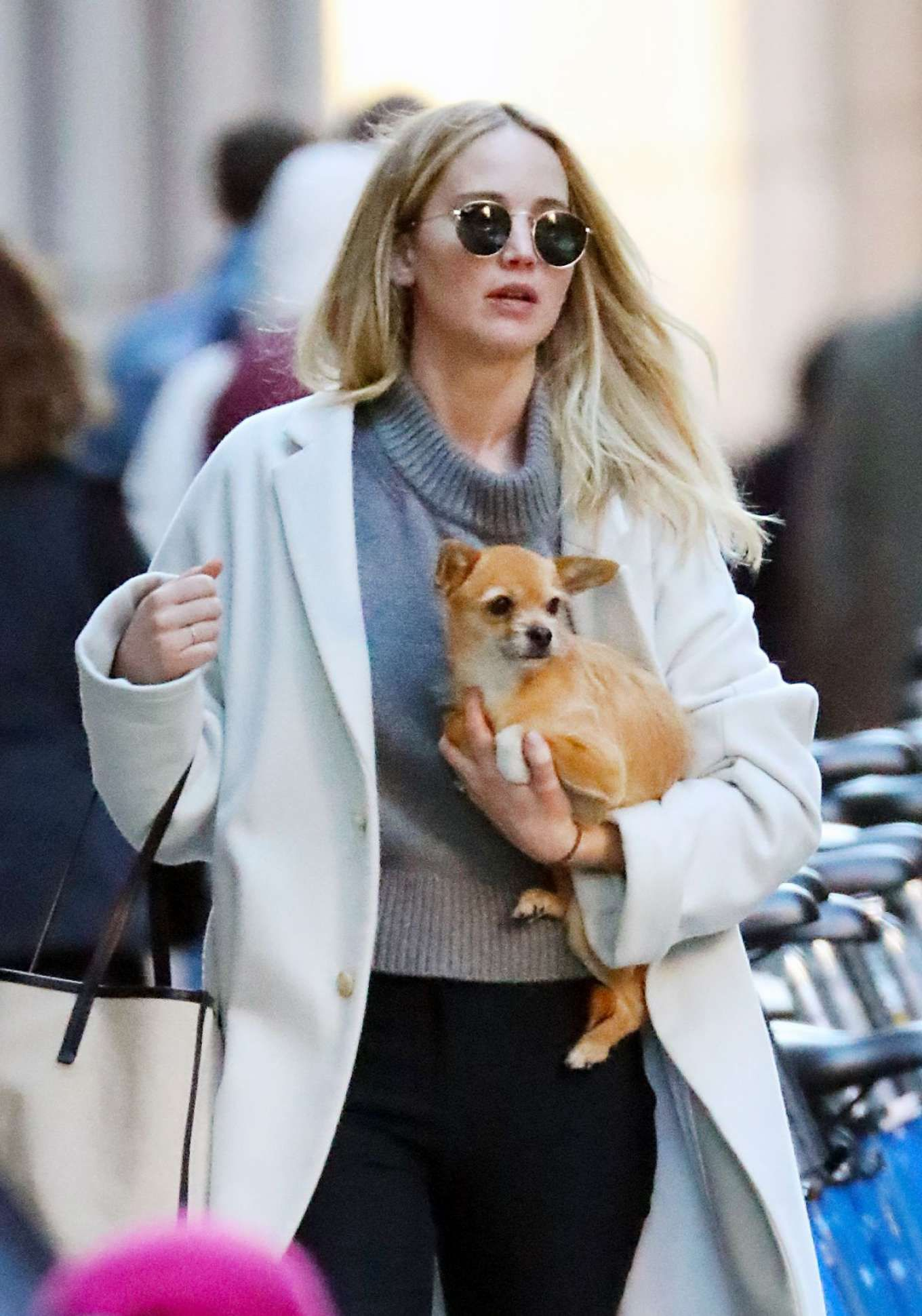 Jennifer with her dog