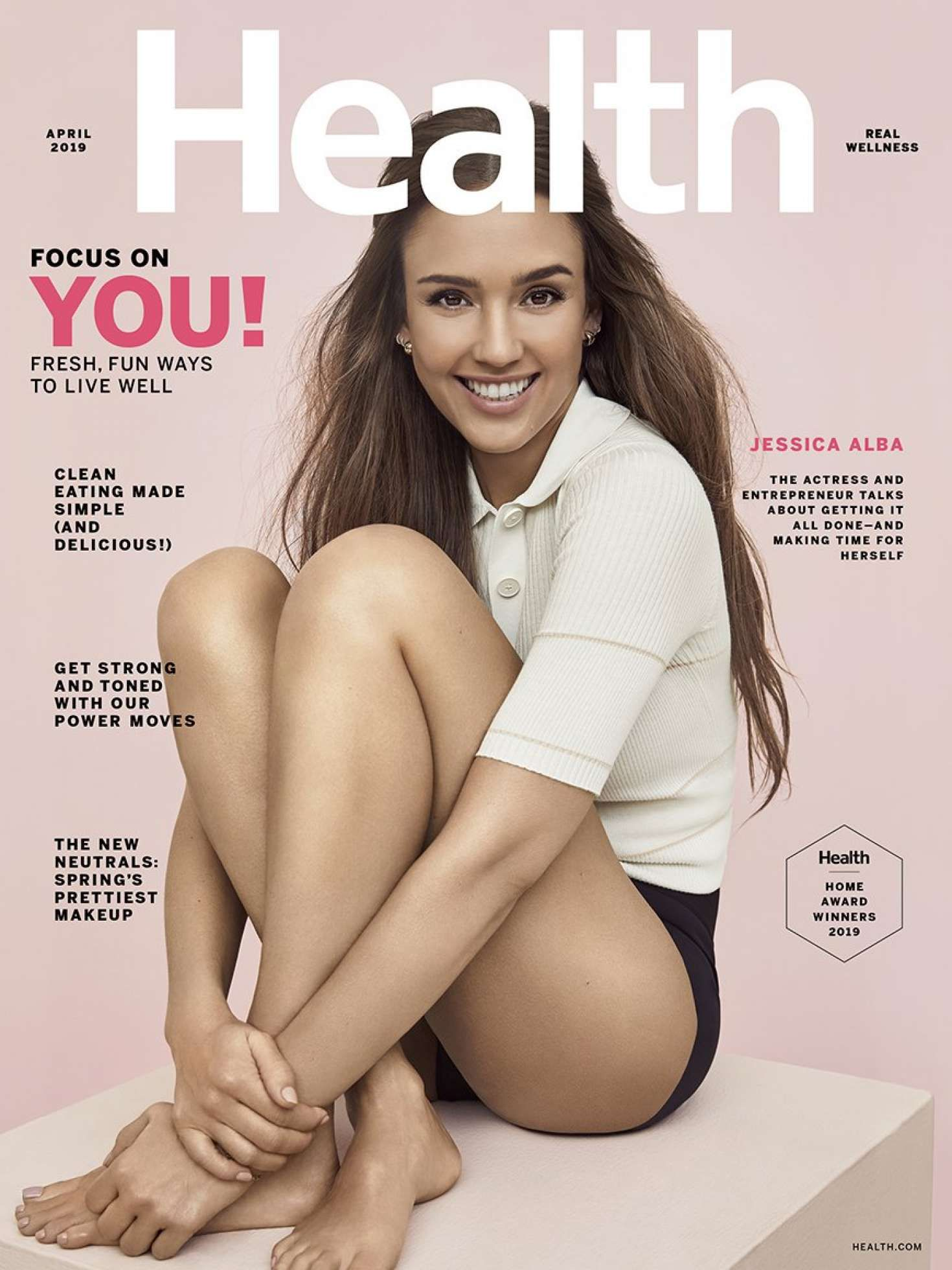 Jessica Alba, cover story for Health