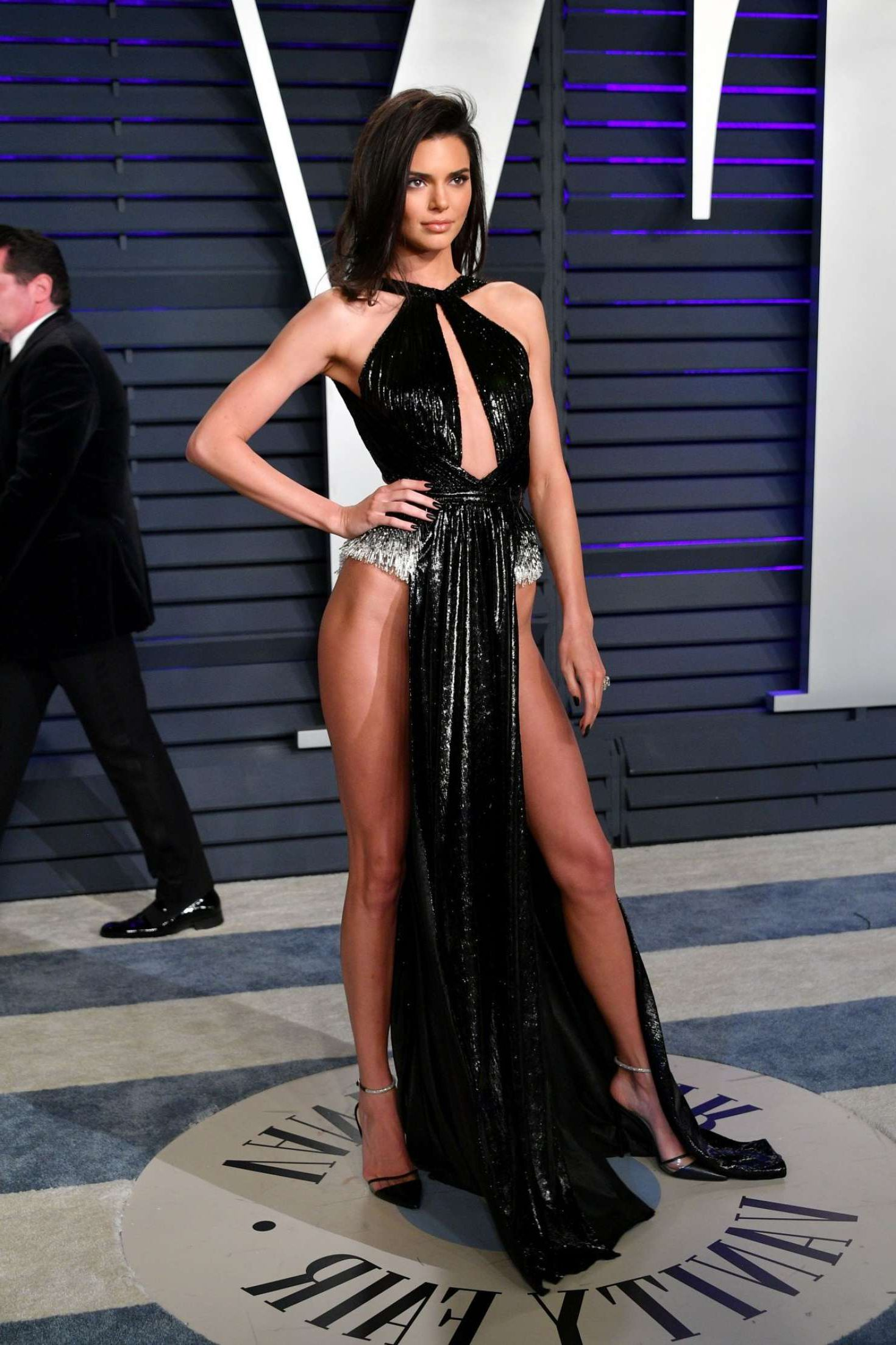 Kendall Jenner In A Super Open Dress At The Vanity Fair Oscar Party In Beverly Hills February 2019