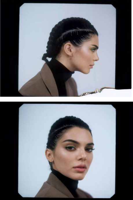 Kendall's hairstyle in 2019