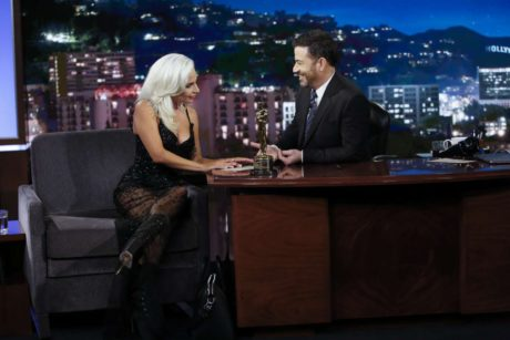 Lady Gaga looks at Jimmy Kimmel, Live in LA, 2019