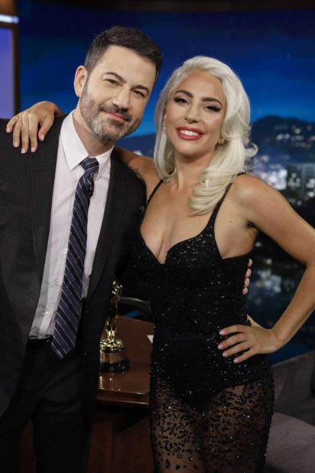 Lady Gaga with Jimmy at the Jimmy Kimmel Live in LA, 2019