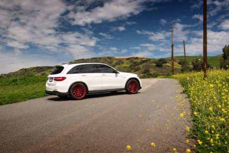 Mercedes AMG GLC 63 - on road, side view