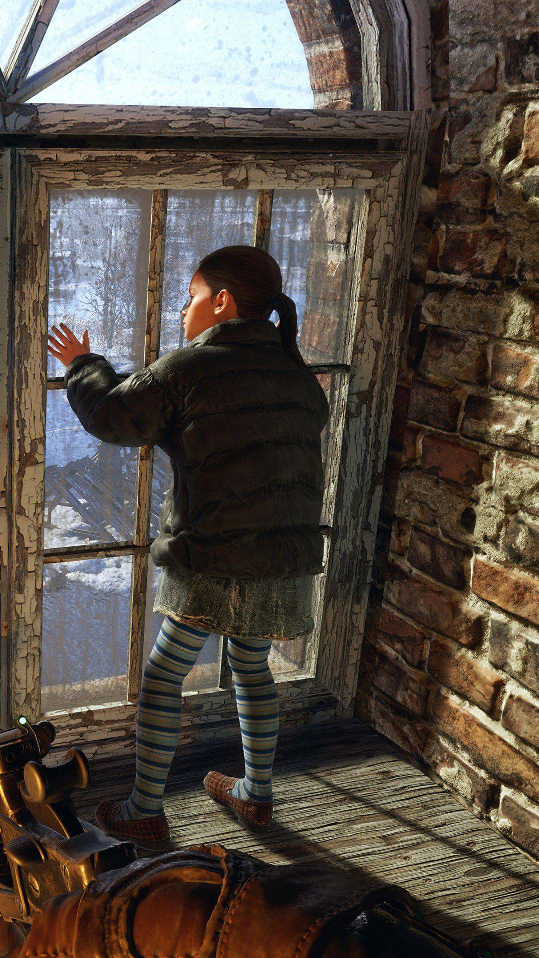 chinese girl by the window