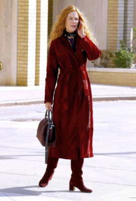 Nicole Kidman in red long coat
