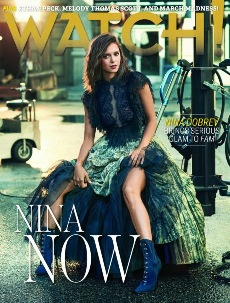 Nina Dobrev, cover story for CBS Watch Magazine