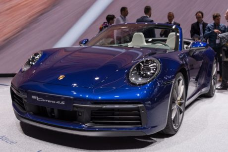 Porsche 911 Carrera 4S Roadster - blue colour, Geneva 2019