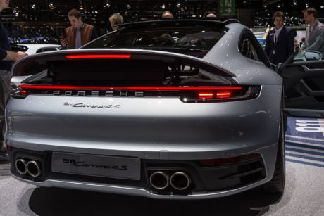 Porsche 911 Carrera 4S - rear view, Geneva 2019