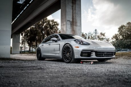 Porsche on custom wheels