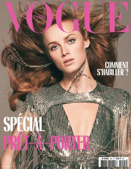 Rianne van Rompaey, cover story for Vogue Paris