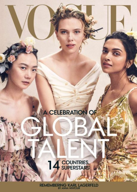 Scarlett Johansson, Deepika Padukone and Doona Bae poses for Vogue US Magazine, April 2019