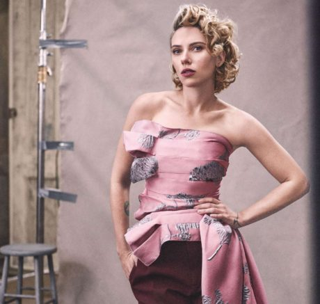 Scarlett Johansson with classic hairstyle for Vogue