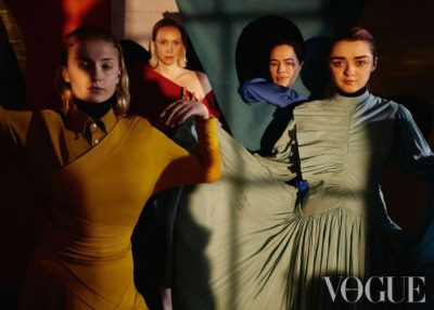 Sophie Turner, Maisie Williams, Gwendoline Christie and Lena Headey for Vogue UK, April 2019