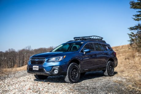 Subaru Outback in blue colour