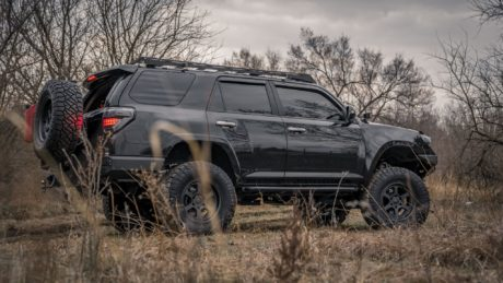Toyota 4Runner on black wheels