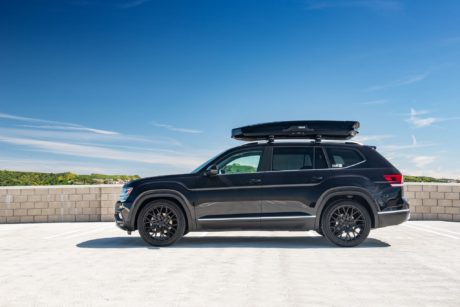 VW Atlas on black luxury wheels