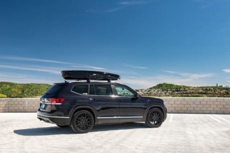 VW Atlas with roof trunk