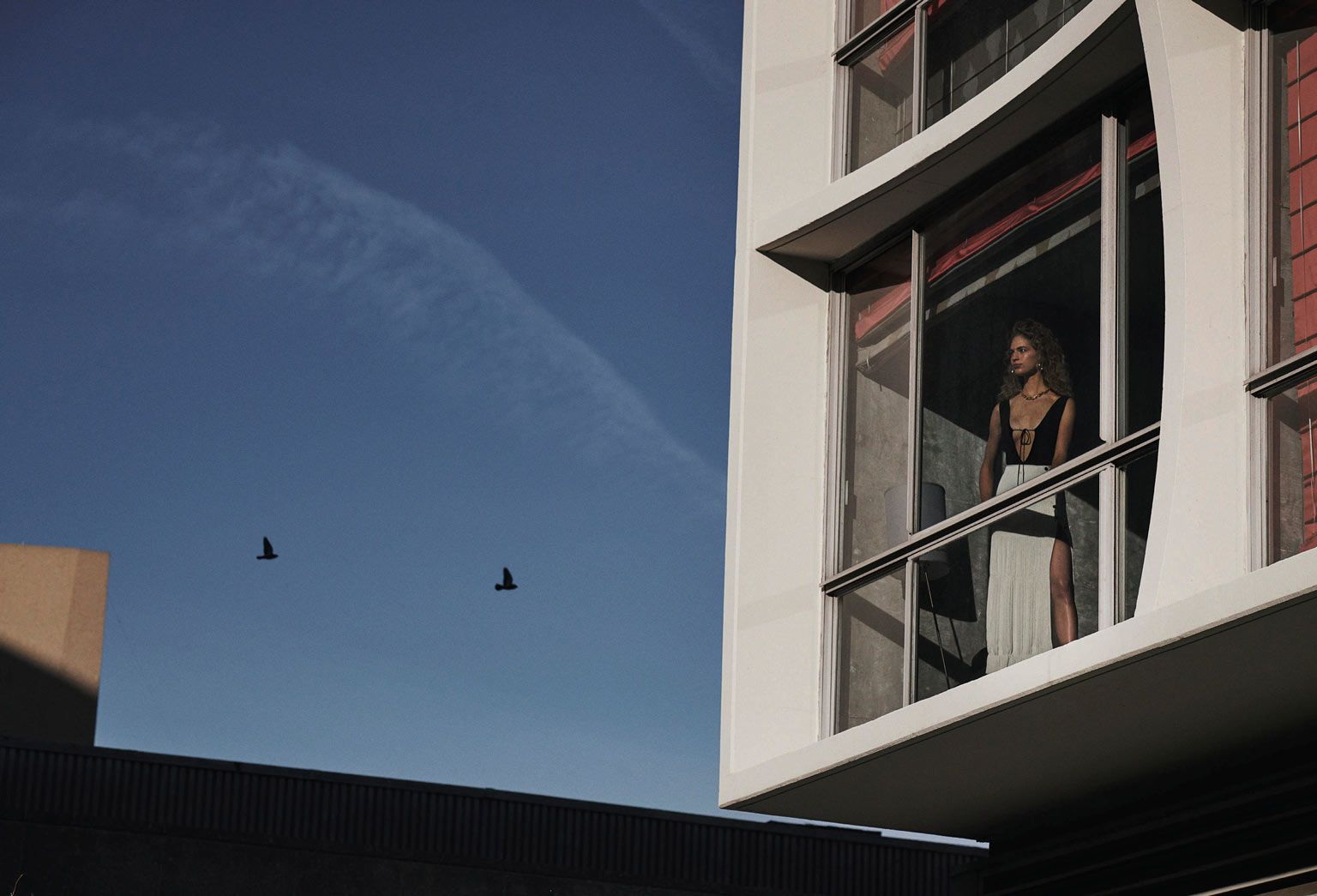 Vanessa Axente stands by window