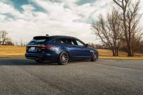 XF Sportbrake on black custom wheels