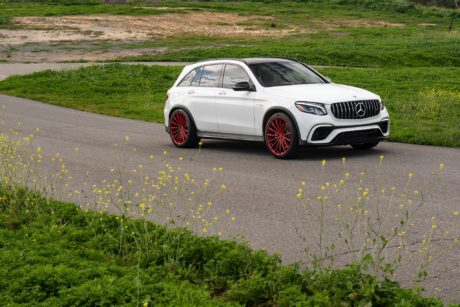 alpine white Mercedes AMG GLC 63