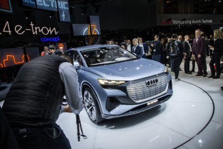 Audi Q4e-tron concept at the GIMS, March 2019