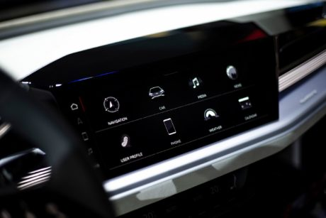 audi Q4e-tron concept - new sensetive touch-screen