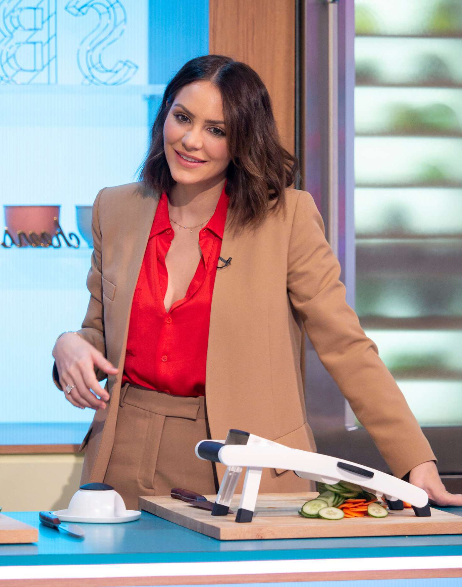 beautiful Katharine McPhee at the Sunday Brunch Show in London, 2019