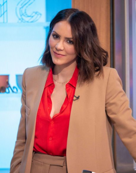 cute actress Katharine McPhee at the Sunday Brunch Show in London, 2019