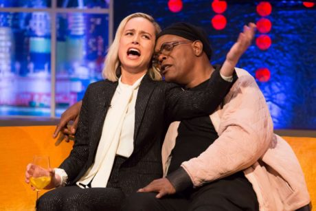 funny Brie Larson and Jonathan Ross