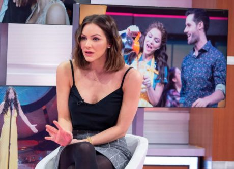 funny Katharine McPhee at the Good Morning Britain