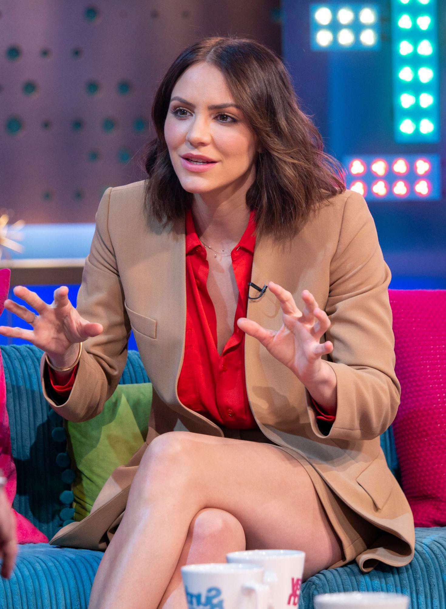 funny Katharine McPhee at the Sunday Brunch Show in London, 2019